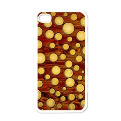 Wood And Gold Apple Iphone 4 Case (white)