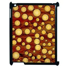 Wood And Gold Apple Ipad 2 Case (black)