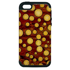 Wood And Gold Apple Iphone 5 Hardshell Case (pc+silicone)