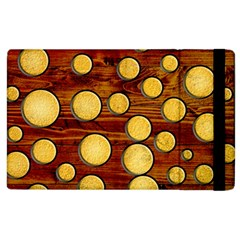 Wood And Gold Apple Ipad 2 Flip Case