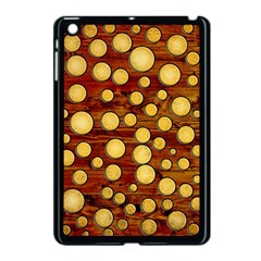 Wood And Gold Apple Ipad Mini Case (black)