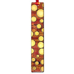 Wood and gold Large Book Marks