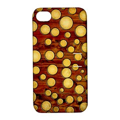 Wood And Gold Apple Iphone 4/4s Hardshell Case With Stand