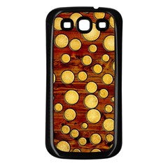 Wood And Gold Samsung Galaxy S3 Back Case (black)