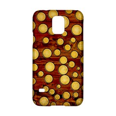 Wood And Gold Samsung Galaxy S5 Hardshell Case