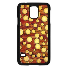 Wood and gold Samsung Galaxy S5 Case (Black)