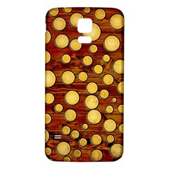 Wood And Gold Samsung Galaxy S5 Back Case (white)
