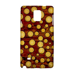 Wood And Gold Samsung Galaxy Note 4 Hardshell Case