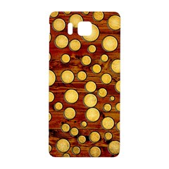 Wood and gold Samsung Galaxy Alpha Hardshell Back Case