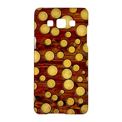 Wood And Gold Samsung Galaxy A5 Hardshell Case