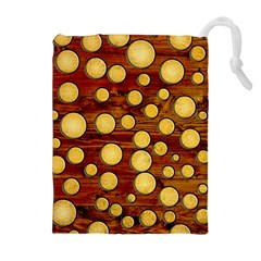 Wood and gold Drawstring Pouches (Extra Large)
