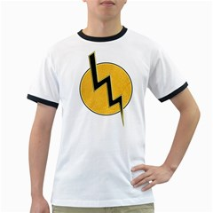 Lightning bolt Ringer T-Shirts