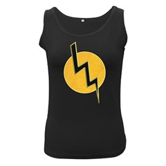 Lightning Bolt Women s Black Tank Top