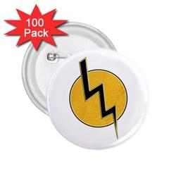 Lightning bolt 2.25  Buttons (100 pack)