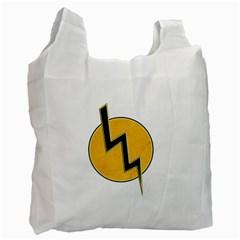 Lightning Bolt Recycle Bag (one Side)