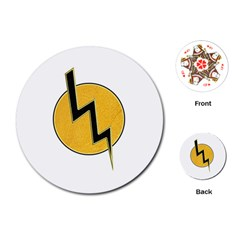 Lightning bolt Playing Cards (Round)