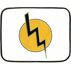 Lightning Bolt Double Sided Fleece Blanket (mini)