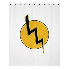 Lightning Bolt Shower Curtain 60  X 72  (medium)