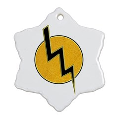 Lightning Bolt Snowflake Ornament (two Sides)