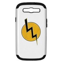 Lightning Bolt Samsung Galaxy S Iii Hardshell Case (pc+silicone)
