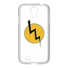 Lightning Bolt Samsung Galaxy S4 I9500/ I9505 Case (white)