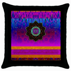 Air And Stars Global With Some Guitars Pop Art Throw Pillow Case (Black)
