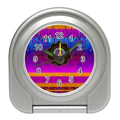 Air And Stars Global With Some Guitars Pop Art Travel Alarm Clocks