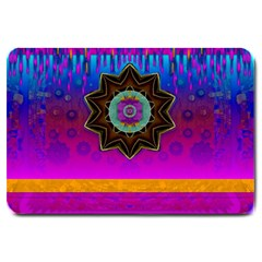 Air And Stars Global With Some Guitars Pop Art Large Doormat