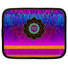 Air And Stars Global With Some Guitars Pop Art Netbook Case (Large)