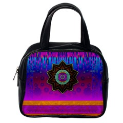 Air And Stars Global With Some Guitars Pop Art Classic Handbags (One Side)