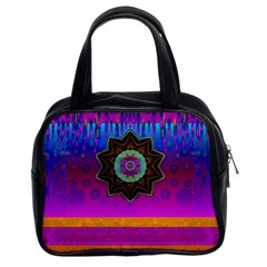 Air And Stars Global With Some Guitars Pop Art Classic Handbags (2 Sides)