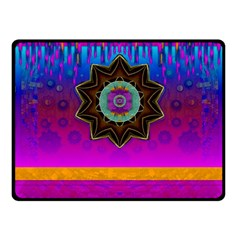 Air And Stars Global With Some Guitars Pop Art Fleece Blanket (Small)