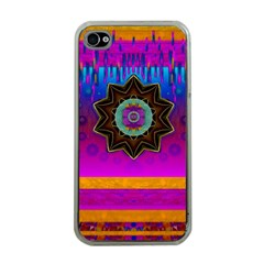 Air And Stars Global With Some Guitars Pop Art Apple iPhone 4 Case (Clear)
