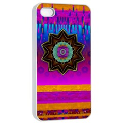 Air And Stars Global With Some Guitars Pop Art Apple iPhone 4/4s Seamless Case (White)