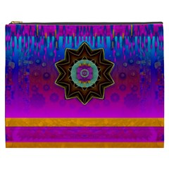 Air And Stars Global With Some Guitars Pop Art Cosmetic Bag (xxxl)