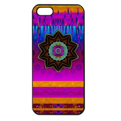 Air And Stars Global With Some Guitars Pop Art Apple iPhone 5 Seamless Case (Black)