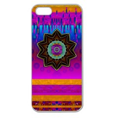 Air And Stars Global With Some Guitars Pop Art Apple Seamless iPhone 5 Case (Clear)