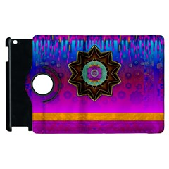 Air And Stars Global With Some Guitars Pop Art Apple iPad 3/4 Flip 360 Case