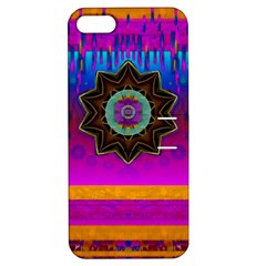 Air And Stars Global With Some Guitars Pop Art Apple iPhone 5 Hardshell Case with Stand