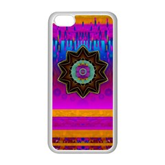 Air And Stars Global With Some Guitars Pop Art Apple iPhone 5C Seamless Case (White)