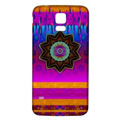 Air And Stars Global With Some Guitars Pop Art Samsung Galaxy S5 Back Case (White)
