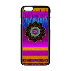 Air And Stars Global With Some Guitars Pop Art Apple iPhone 6/6S Black Enamel Case