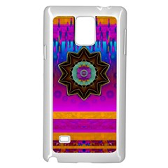 Air And Stars Global With Some Guitars Pop Art Samsung Galaxy Note 4 Case (White)