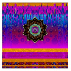Air And Stars Global With Some Guitars Pop Art Large Satin Scarf (Square)