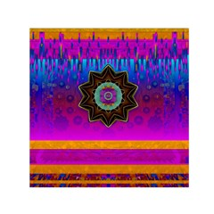Air And Stars Global With Some Guitars Pop Art Small Satin Scarf (Square)