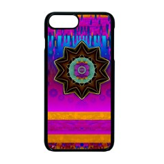 Air And Stars Global With Some Guitars Pop Art Apple iPhone 7 Plus Seamless Case (Black)