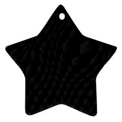 Black Pattern Dark Texture Background Ornament (star)
