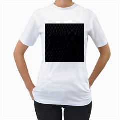 Black Pattern Dark Texture Background Women s T Shirt (white) (two Sided)