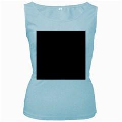 Black Pattern Dark Texture Background Women s Baby Blue Tank Top