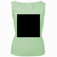 Black Pattern Dark Texture Background Women s Green Tank Top
